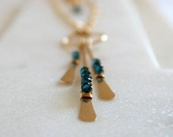 Embellished Fringe Necklace.