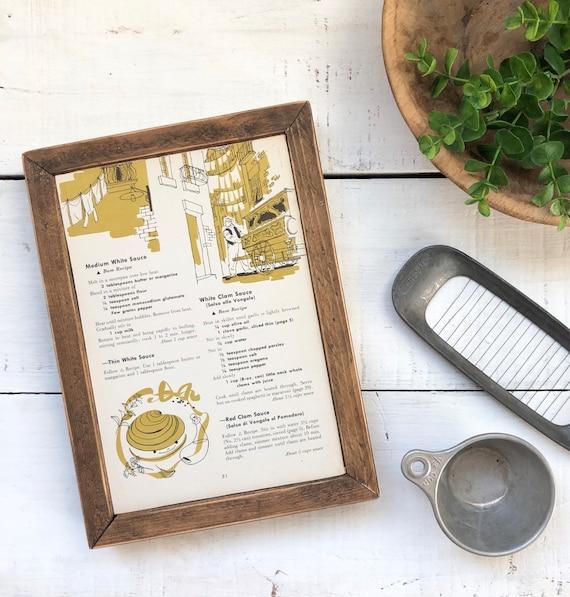 ITALIAN Vintage Recipe Page Sign