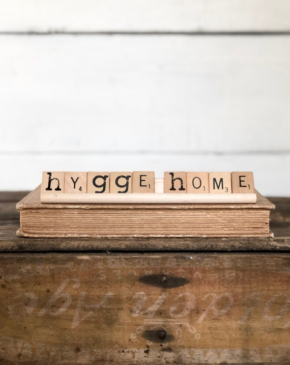 Vintage Scrabble Wood Rack Sign HYGGE HOME Free Shipping
