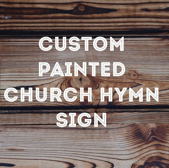 1930's Hand painted Church on Vintage music page Wood Frame original hymnal Decor Farmhouse free shipping