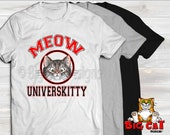 MEOW UNIVERSKITTY Cat T-shirt.  Great shirt for cat lovers.