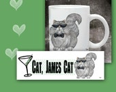 Cat Coffee Mug   CAT,  JAMES CAT - 11 oz ceramic mug with art all the way around