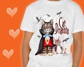 CAT T-SHIRT. Cat Dracula....