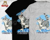 I KNEAD YOU tabby cat t-shirt.  Cat making biscuits.  Cat Love T-shirt.  Direct print, not a transfer