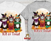 CAT T-SHIRT. Kit or Treat...