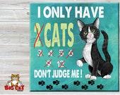 6x6 Cat Trivet, Cat Spoon Rest  DON'T JUDGE ME - use as cat art, cat tile, cat spoon rest or cat trivet. Great Kitchen Art