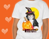 CAT T-SHIRT. Witch Kitty....
