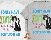 DONT JUDGE ME Cat T-shirt...