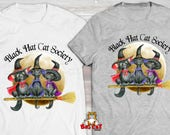CAT SHIRT - Black Hat Cat...