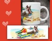 Cat Coffee Mug  LAID BACK CAT - 11 oz