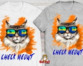 CHECK MEOWT Cat T-shirt. ...