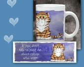 Cat Coffee Mug  TALK To Your CAT About CATNIP- 11 oz
