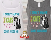 CAT TANK TOP - Cat lady D...