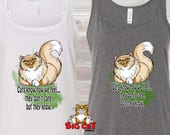 CAT TANK TOP Cats know ho...
