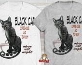 COFFEE CAT T-shirt. Black...