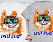 CHECK MEOWT Cat T-shirt. ...