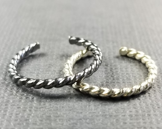 Sterling Silver Twisted Wire Toe Ring/Silver Toe Ring/Twisted Toe Ring/Foot Jewelry/Body Jewelry/Summer Accessory
