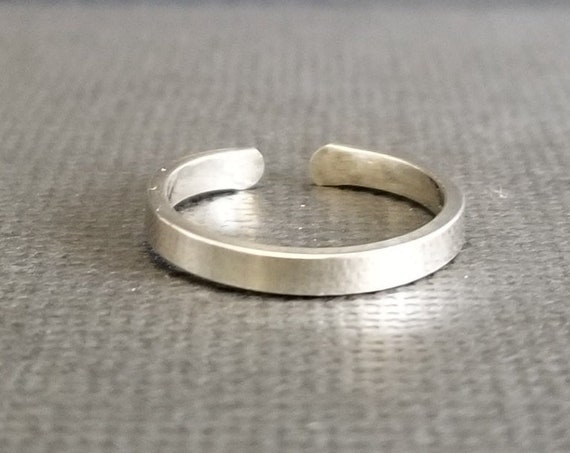 3 mm Polished Sterling Silver Toe Ring Body Jewelry Summer Accessory Made to Order Jewelry Made in Canada Gift under 20