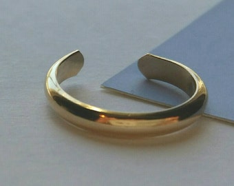 14K Gold Fill Toe Ring- Wide Half Round -2.5mm
