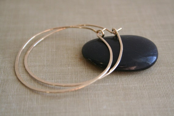 Large 14K Gold Filled Round Hoop Earrings