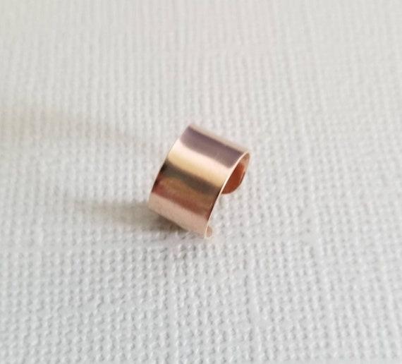 Wide Rose Gold FIll Ear Cuff Faux Piercing