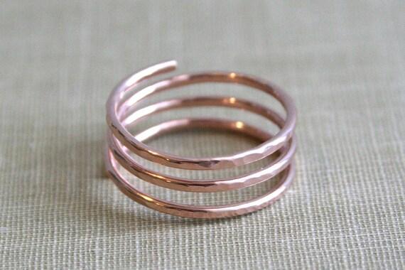 Spiral Wrap Ring- 14K Rose Gold Filled