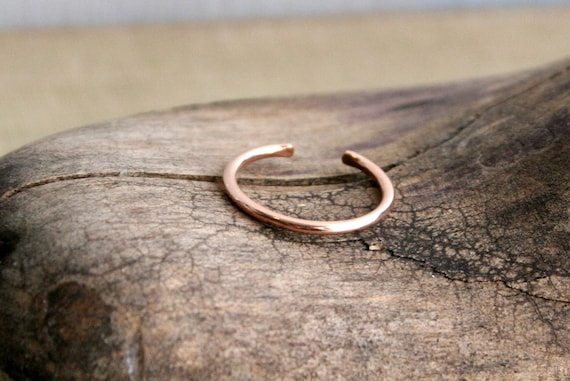 14K Rose Gold Fill Toe Ring Round Wire