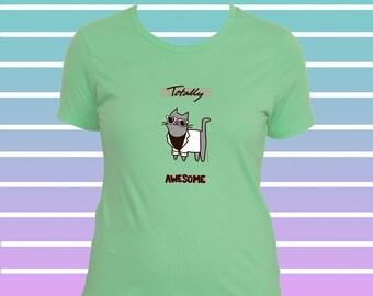 Katze T-Shirt Frauen Miami Vice Style Total 80er Wayfarer Sonnenbrille Miami Vice Blazer 80er Jahre T Shirt 80er Jahre Hemd