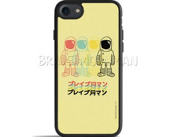 Astronaut iPhone X Case Outer Space iPhone Case Galaxy S7 Case Japanese iPhone 7 Plus Brave Moonman Spaceman Gift for Him