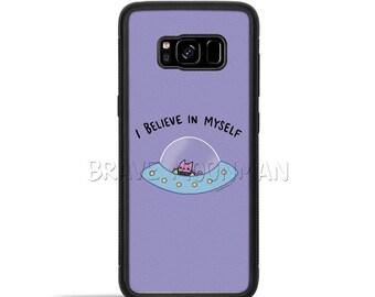 Cute UFO Phone Case I Believe in Myself Outer Space Alien Cat Galaxy S8 case galaxy s7 case galaxy s8 plus case Cute Alien