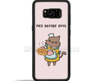 Galaxy S7 Case Pies Before Guys Cute Cat Phone Case galaxy note 8 case Tech Gift Girl Power Gift For Her cute galaxy note 5 case