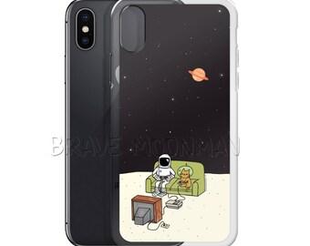 iPhone 8 Plus Case Astronaut iPhone Case Astronaut iPhone 8 Case Brave Moonman Video Game iPhone Case Space Cat iPhone Case Retro