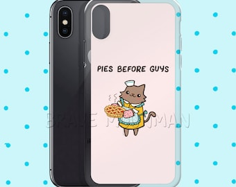 Cute iPhone 6s Case Pies Before Guys Pink iPhone 7 Case Pink Phone Case Cute Cat Phone Case Girl Power iPhone X Case iPhone 8 Plus Case