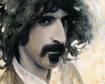 "ORIGINAL Frank Zappa painting, 16x20"", oil on panel"