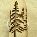 PINE TREE Forest  Clay Ceramic Texture Wood Roller Tile Rolling Pin