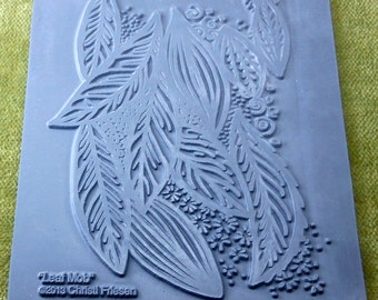 Rubber stamp Leaf Mob  the name says it all this stamp