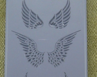 Angel Wings Embossed Clay Texture Rubber Stamp   TTL-721