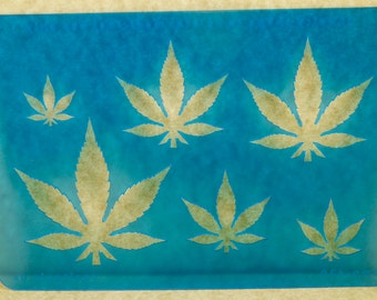 Marijuana Cannabis Leaf  Medicinal Use Jewelry Template Stencil TMP420