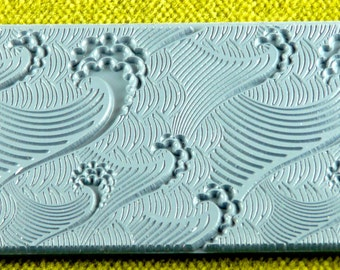 Waves Texture Rubber Stamp TTL-140