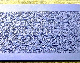 Rollable CURLY VINES Clay Texture Rubber Stamp   RTT-115