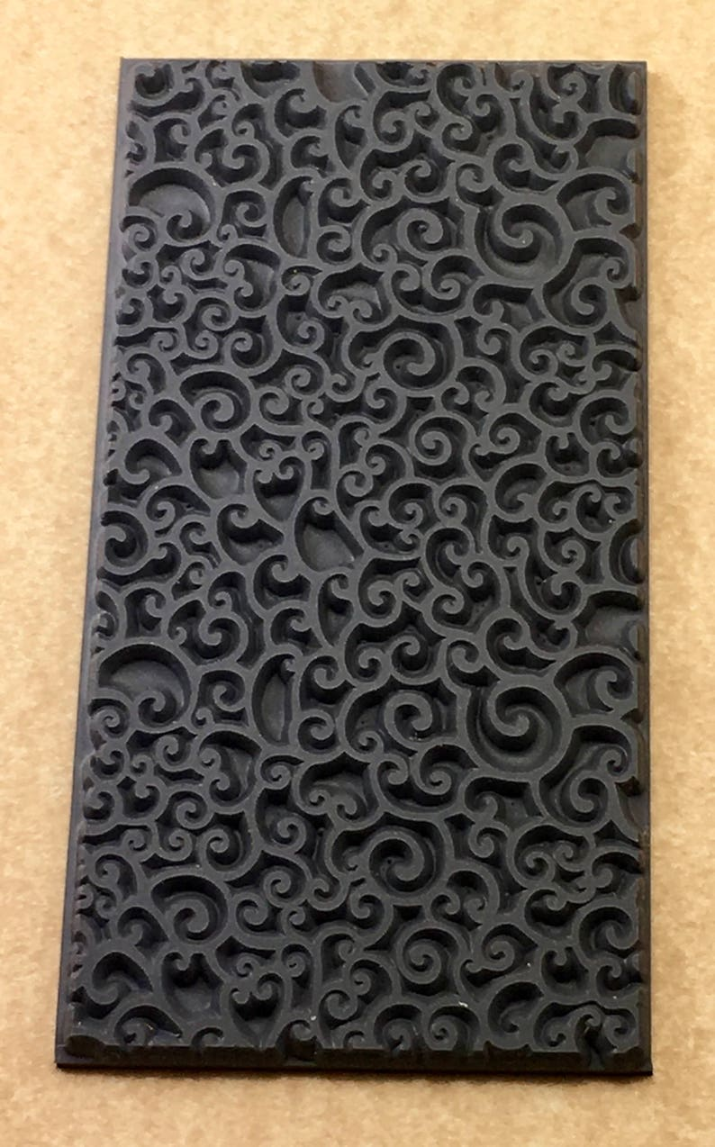 Sea foam rubber texture stamp mat for clay ink acrylics etsy