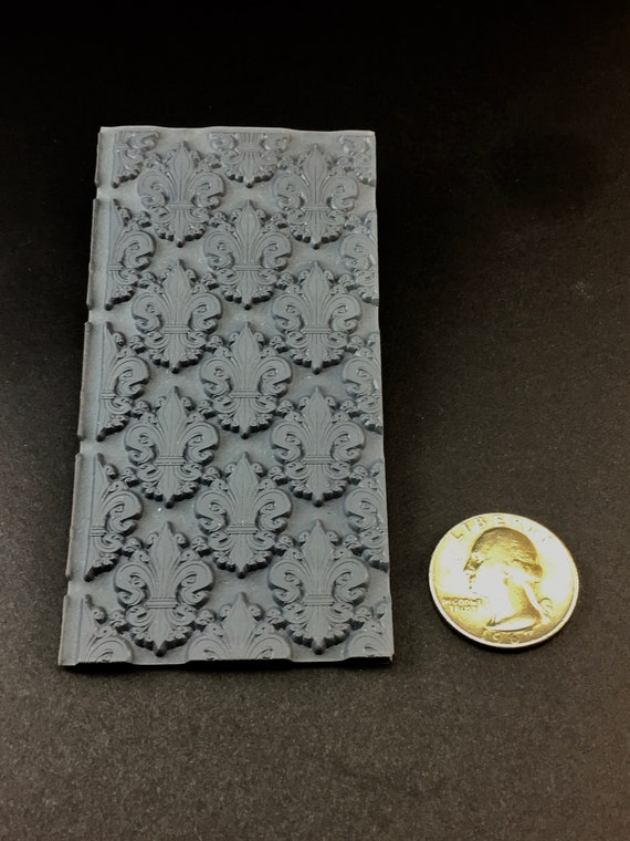 FIELD of DAISEYS   Rubber Texture Tile Mat Stamp for Clay inks Paint Soap   TTL629