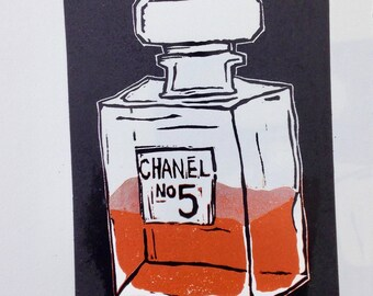 Chanel Nr. 5. Linoldruck