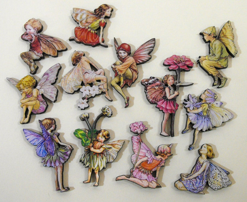 Flower Fairies  Wood Laser Cut Craft Embellishments image 0