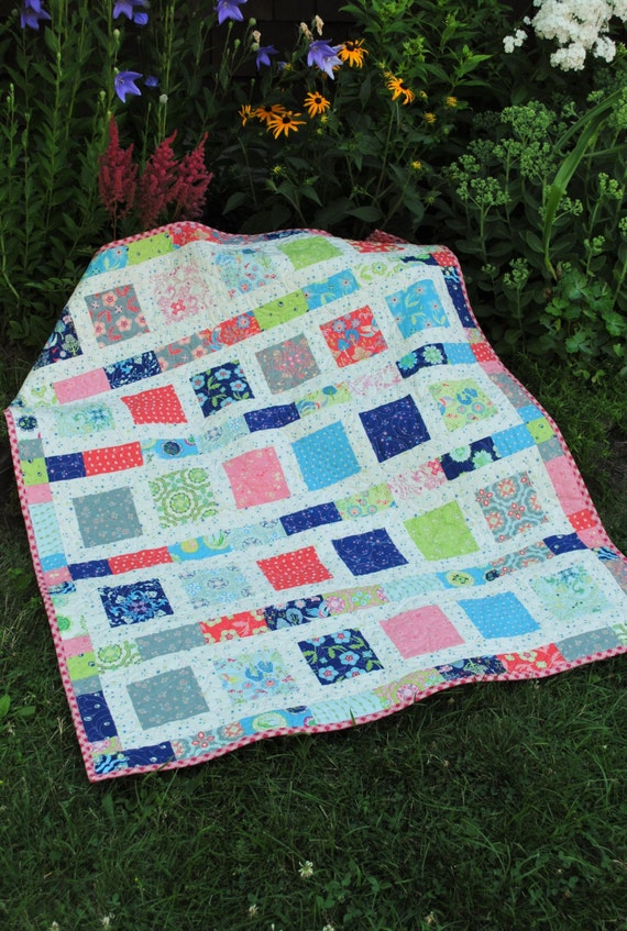 Baby Quilt Pattern Quick And Easy 2 Charm Square Packs Flowers In The Sunshine