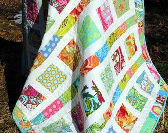 Flowers in the Sunshine Baby QUILT PATTERN....Quick and Easy...2 Charm Square Packs PDF Version