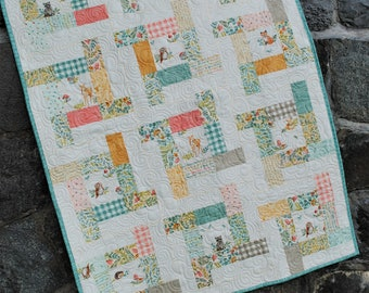 PDF quilt PATTERN baby to king.... Charm Squares, Layer Cake, Jelly Roll or Fat Quarters ...Tea Party