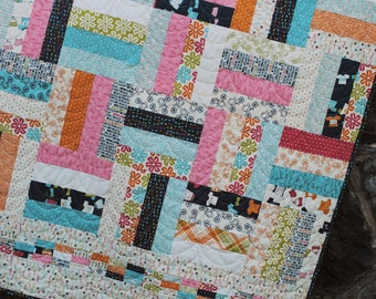 Baby and Lap Quilt Pattern.....Layer Cake, Jelly Roll and Fat Quarter friendly, .. On the Fence