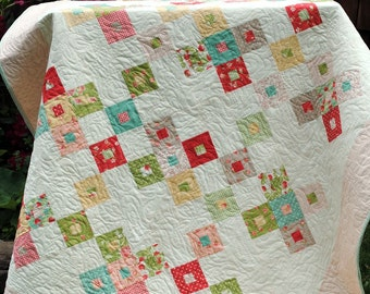 PDF quilt PATTERN, Baby, Lap, or Twin size.... Layer Cake or Fat Quarters, Better Together