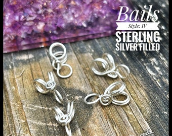 Handmade Sterling Silver filled Pendant Bails IV, PurpleLily Designs, Choose from 1,3, or 5 bails in 20g or 18g